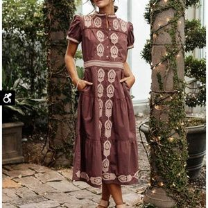 Bohme Siya Embroided Dress in Lavender